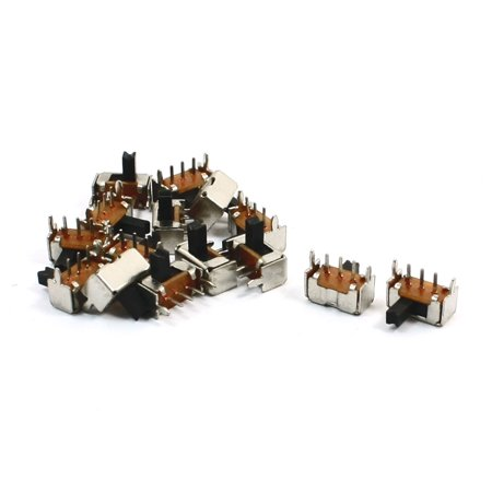 15 Pcs 2 Position 1P2T PCB Mount  Slide Switch Right Angle 3 Pins 3 Pin Right Angle