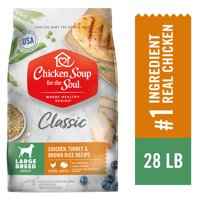 Chicken Soup Large Breed Adult Dry Dog Food - Chicken, Turkey & Brown Rice Recipe (Various Sizes)