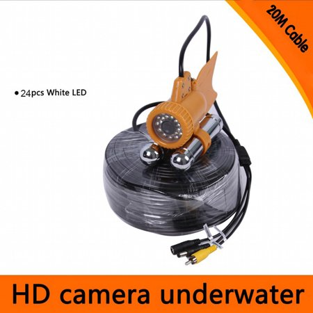 20M / 30M Cable Underwater Fishing Color Video 600TVL SONY CCD Camera 24pcs White LEDs Nightvision Waterproof Fish Finder