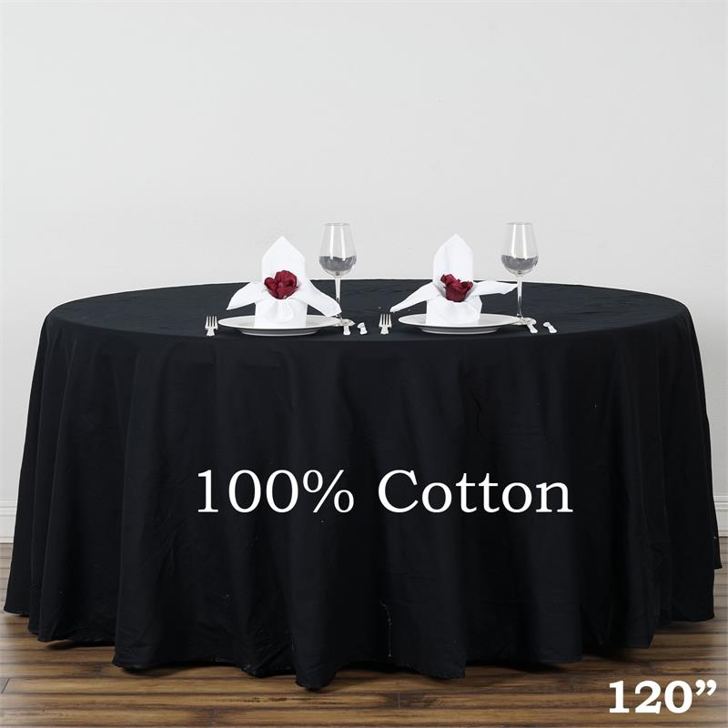 "Click here to buy BalsaCircle 120"" Round Cotton Tablecloths Wedding Linens High Quality."