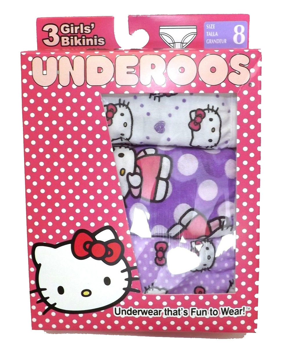 3 Pack Hello Kitty Toddler Girls' Bikini Underwear Cotton 8