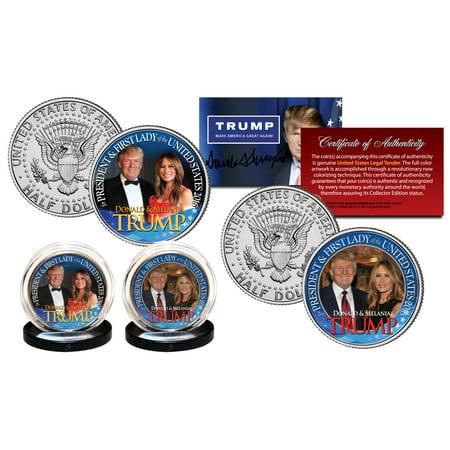 DONALD & MELANIA TRUMP President & First Lady JFK Kennedy Half Dollar 2-Coin Set