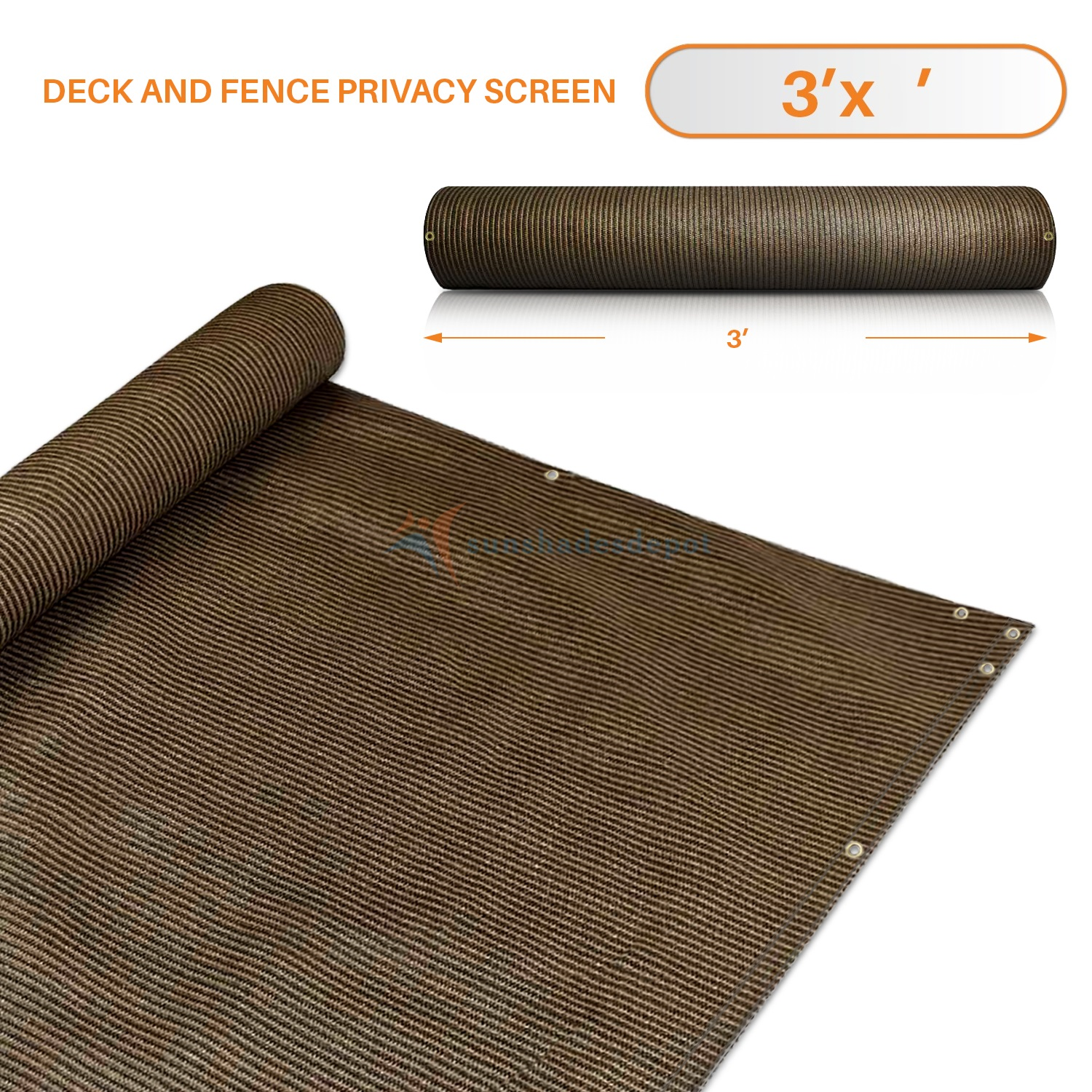 Easy Pool Deck W Privacy Screen: 3' X 236' Brown Residential Commercial Privacy Deck Fence