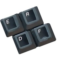HQRP English QWERTY Laminated Keyboard Stickers for All PC & Laptops with White Lettering