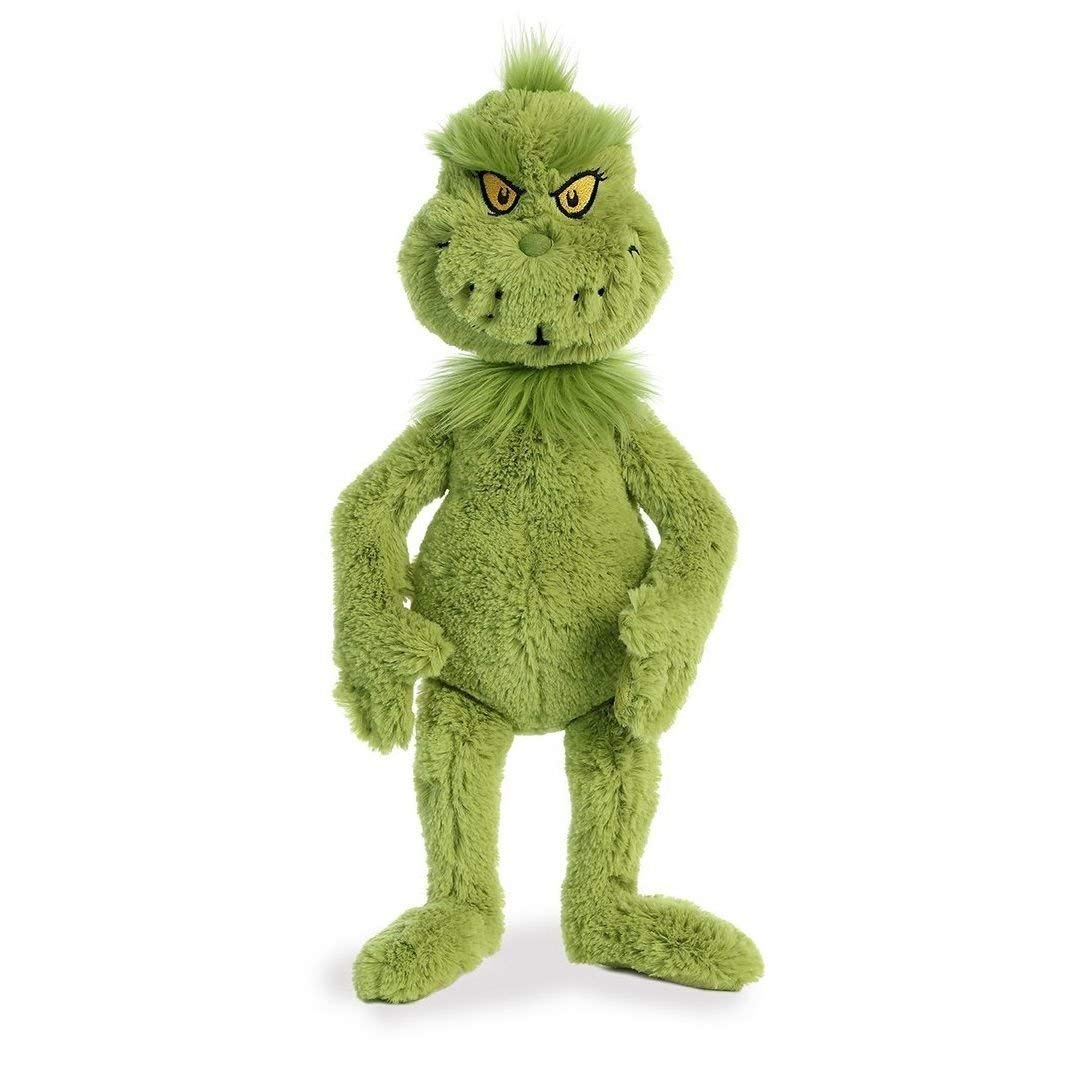 "18"" Dr. Seuss Mr. Grinch Aurora Licensed Stuffed Animal Plush"