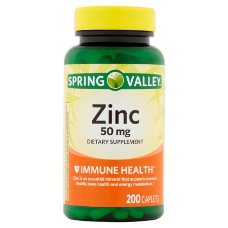 Spring Valley Zinc 50 Mg 200 Ct Spring Valley Natural Zinc Immune Health Dietary Supplement 200