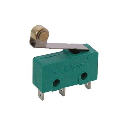 Roller Lever Hinge Limit Switch Micro SPDT 3A 250VAC / 5A 125VDC 12V Green Mini