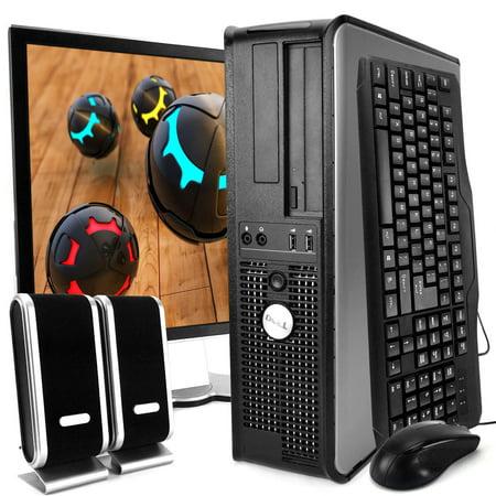 Duo Display - Dell Optiplex 760 Desktop Intel Core 2 Duo 2.3GHz 4GB RAM 250GB HDD DVD-ROM Windows 10 Home 19'' Display Keyboard Mouse Speaker WiFi