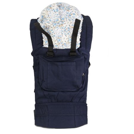 Cotton Baby Carrier Backpack Front and Back baby wrap rider sling  Adjustable-Blue color