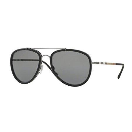 Burberry BE3090Q Sunglasses Color 1003T8 Gunmetal (Burberry Gunmetal Sunglasses)