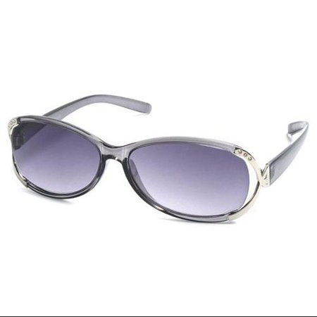 73e9ef1c4e67 Readers.com The Claire Sun Reader +1.00 Grey and Silver Womens Oval Reading  Sunglasses - Walmart.com
