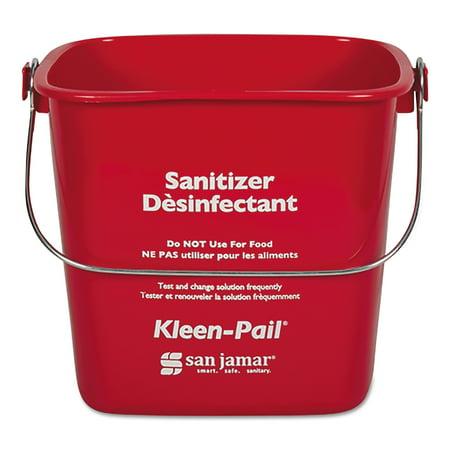 San Jamar Kleen-Pail, Plastic, Red, 12/Carton -SJMKP97RD
