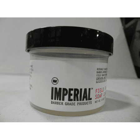 Imperial Barber Field Shave Soap Canister- Contains 1 Ea 6.2 oz Puck Soap (Imperial Soap)