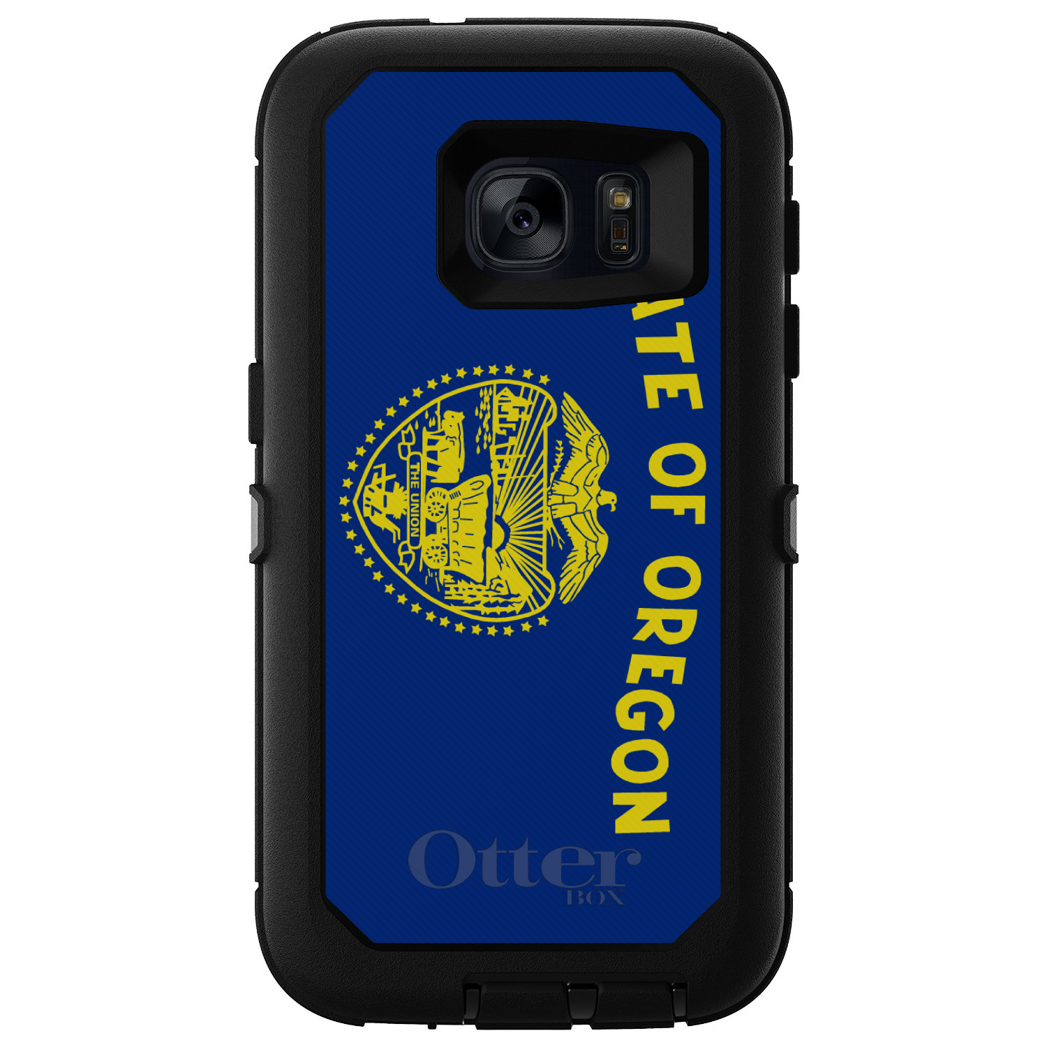 CUSTOM Black OtterBox Defender Series Case for Samsung Galaxy S7 - Oregon State Flag
