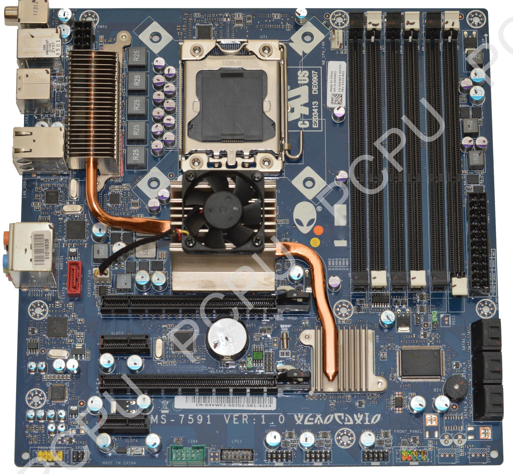 4VWF2 Dell Alienware Aurora ALX i7 Desktop Motherboard s1156