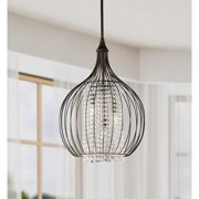 The Lighting Store Indoor 3-light Copper/ Crystal Pendant Chandelier