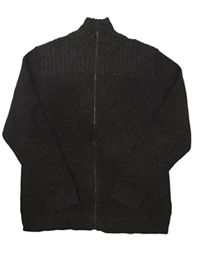 Calvin Klein Men's Cable Knit Ribbed Full Zip Jacket