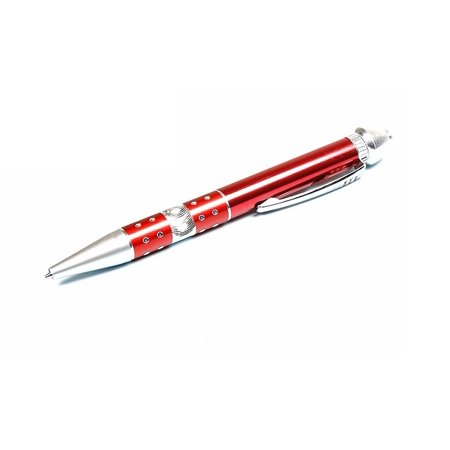 Z-Ballpoint & Cigar Pipe Pen Ball-point Pen Pipe Metal Smoking Pipe Tobacco Pipe Portable Creative Smoking Pipe Accessory (Red)