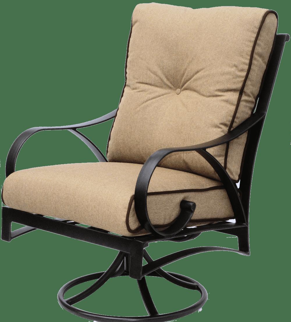 Newport Cast Aluminum Outdoor Swivel Rocker chair ...