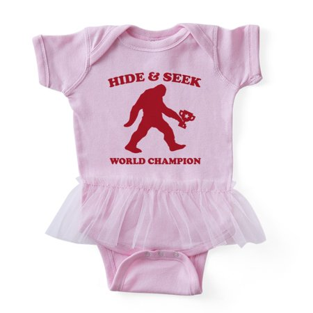 CafePress - Hide And Seek Bigfoot Champion - Cute Infant Baby Tutu Bodysuit