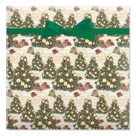 Christmas Tree jumbo Rolled Gift Wrap- Christmas Wrapping ...