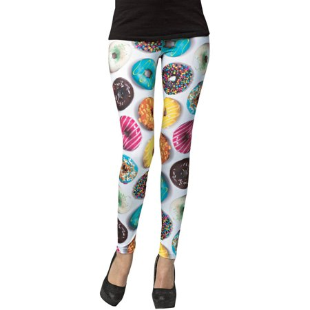 Donut Female Adult Leggings Halloween Accessory, - Halloween Donut Holes