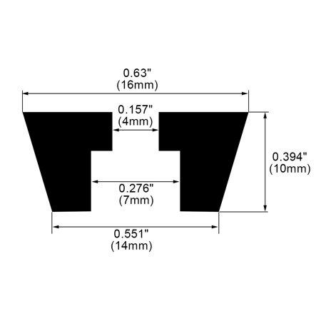 5pcs Rubber Feet Bumper Buffer Anti-slip Pad with Metal Washer D16x14xH10mm - image 2 de 7