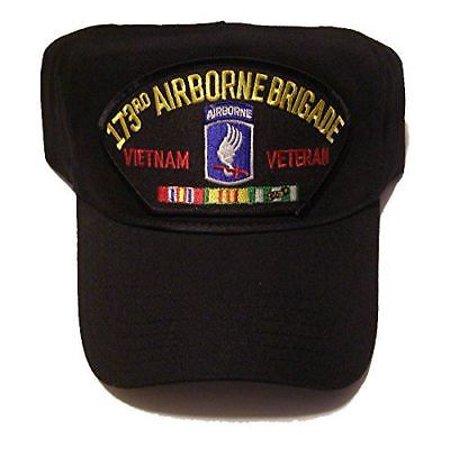 US ARMY 173RD AIRBORNE BRIGADE VIETNAM VETERAN HAT W/ RIBBONS SKY SOLDIERS ()