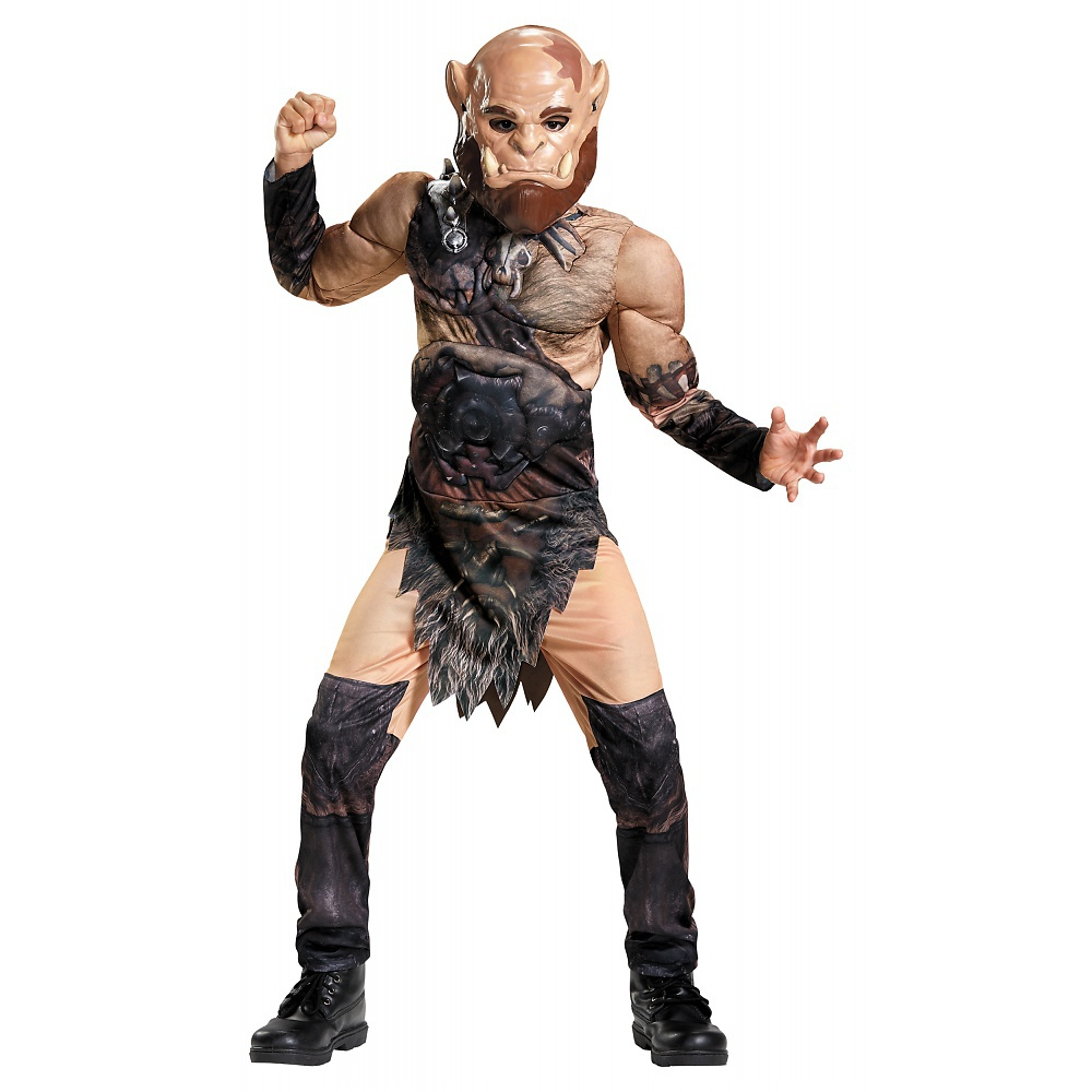 World of Warcraft Orgrim Ork Muscle Childs Halloween Costume