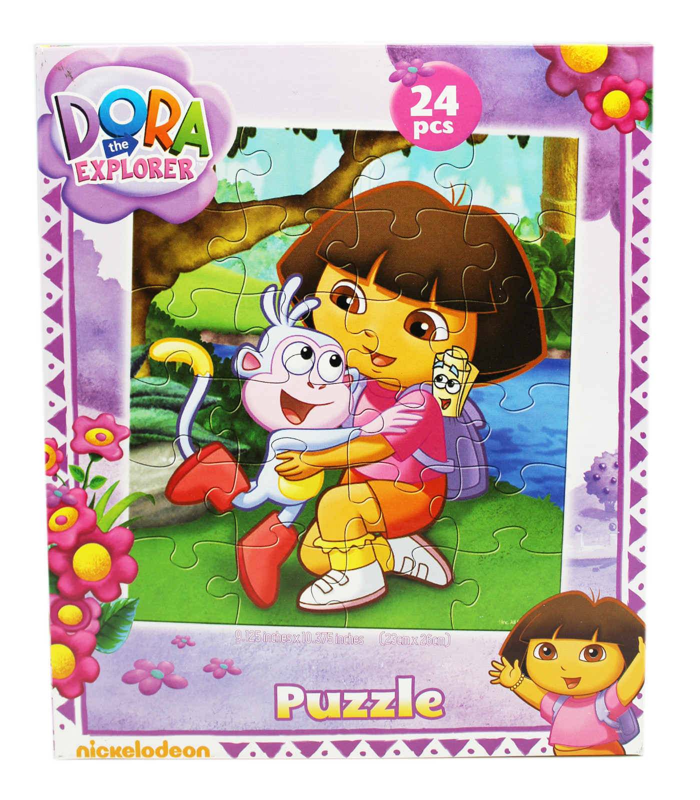 Dora the Explorer Boots and Dora Hugging Kids Jigsaw Puzzle (24pc) by