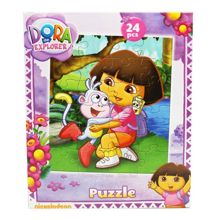 (Dora the Explorer Boots and Dora Hugging Kids Jigsaw Puzzle (24pc))