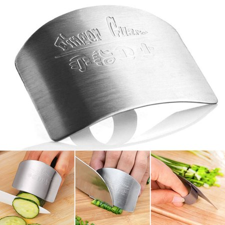 Portable Finger Guard Protect Finger Chop Safe Slice Stainless Steel Kitchen Hand Protector Knife Slice Cutting Finger Protection (Best Knife For Cutting Hard Vegetables)
