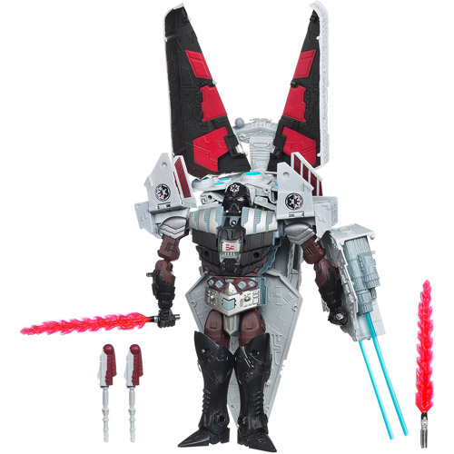 Star Wars Transformers Darth Vader to Star Destroyer Action Figure