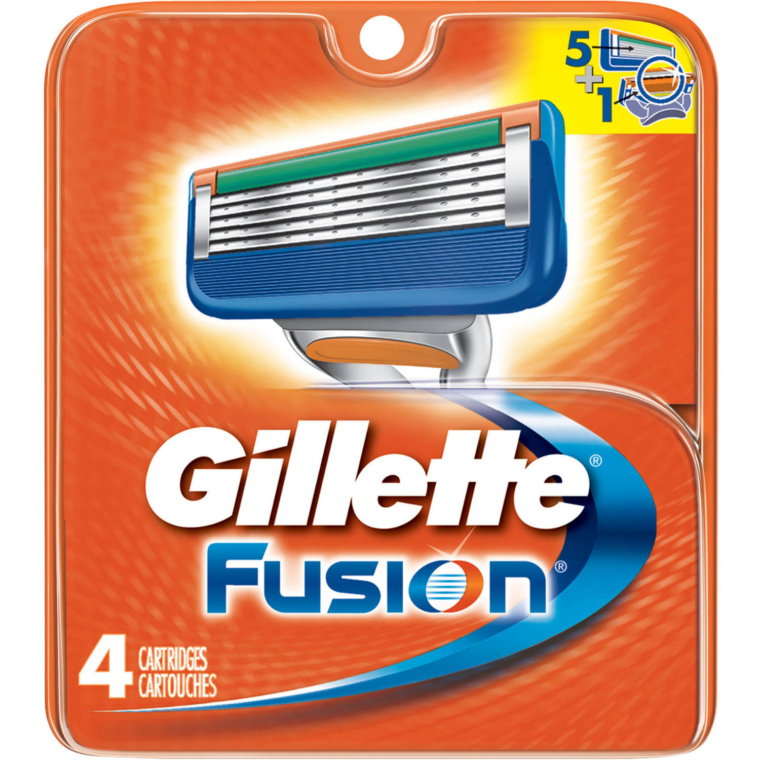 Gillette Fusion Razor Cartridge Refills, 4 Count