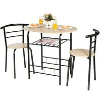 3-Pieces Home Kitchen Bistro Pub Dining Table Set