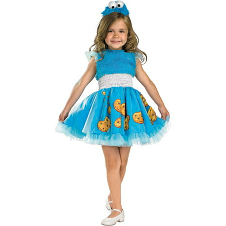 Sesame Street Frilly Cookie Monster Toddler Halloween Costume (Sesame Street Big Bird Halloween Costume)