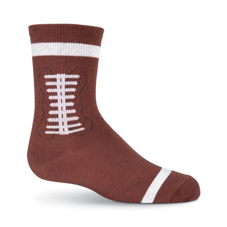 K. Bell Boys Novelty Football Crew Socks (Brown, One Size)