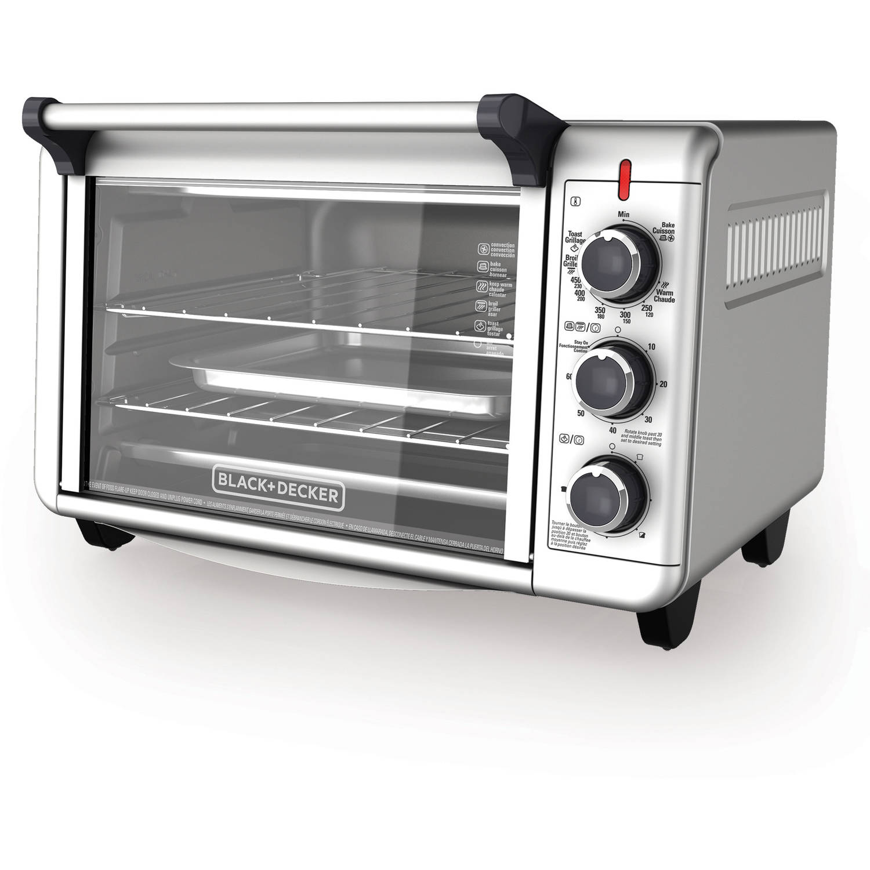 BLACK+DECKER 6-Slice Convection Countertop Toaster ...