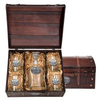 Elephant Capitol Decanter Chest Set by Decanters