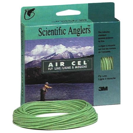 Scientific Anglers Air Cell Fly Line, Size 7, Level Green ()