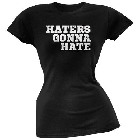 Haters Gonna Hate Black Soft Juniors T-Shirt - Miranda Sings Haters Back Off Shirt