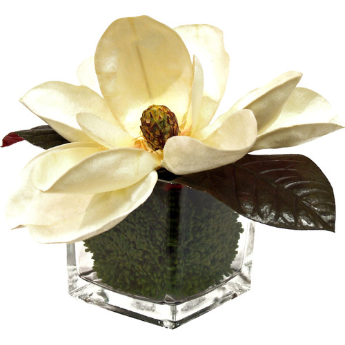 Creative Displays, Inc. Faux Cream Magnolia in Vase