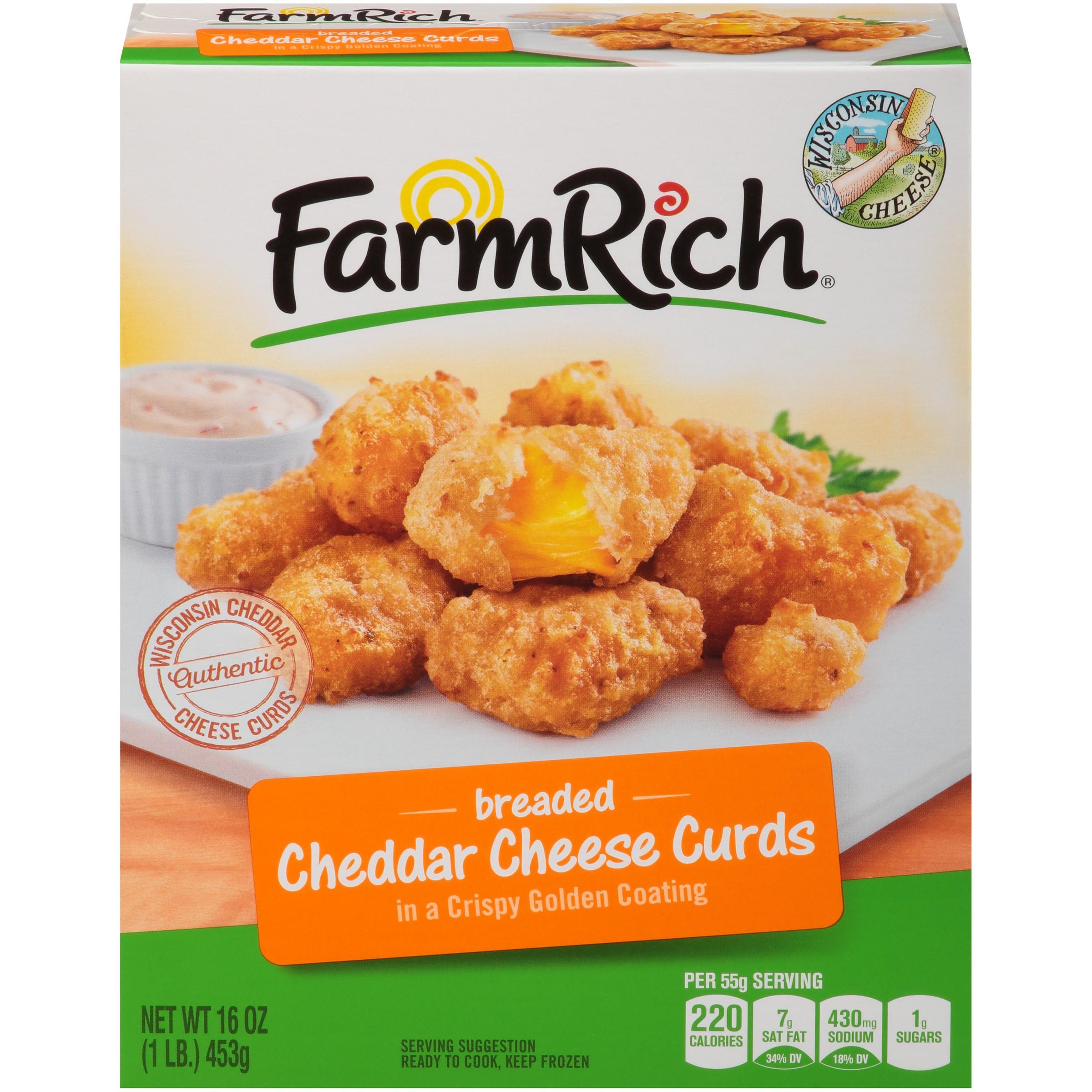 Farm Rich® Breaded Cheddar Cheese Curds 16 oz. Box