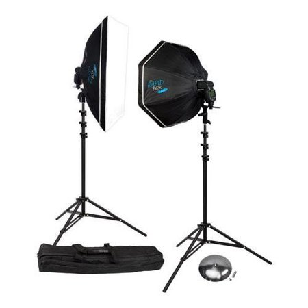 Image of Wescott Rapid Box 2-Light Kit with Deflector Plate Beauty Dish & Carry Case