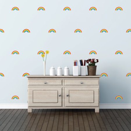 walls need love rainbow mini pack wall decal. Black Bedroom Furniture Sets. Home Design Ideas