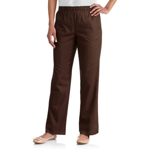 White Stag Women's Comfort Waist Woven Pull-On Pants Available in Regular and Petite