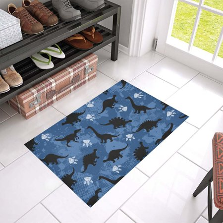 MKHERT Paws With Dinosaur Doormat Rug Home Decor Floor Mat Bath Mat 23.6x15.7 inch - Dinosaur Home Decor