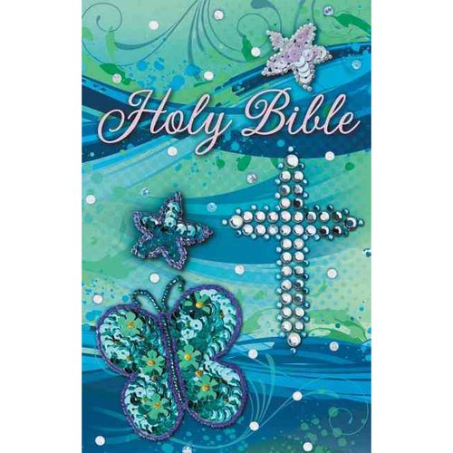 Holy Bible: International Children's Bible Teal Shiny Sequin