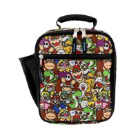 Super Mario Bros Boy's Girl's Soft Insulated School Lunch Box B19NN42874