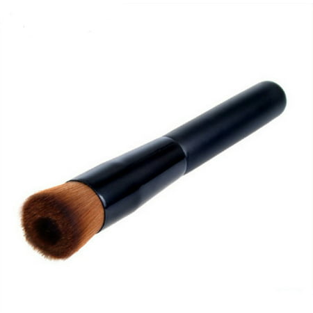 Pro Angled Flat Top Buffer Brush Liquid Soft Blush Contour Face Powder Brush Makeup Cosmetic Foundation (Best Mac Brush For Powder Foundation)